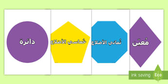 قصّ وعرض الأشكال الثنائية الأبعاد  - أشكال هندسية ثنائية الأبعاد، قصّ، عرض، أشكال، تعليم ال