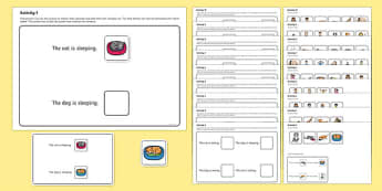 Workstation Pack: Sentence to Picture Matching Activity Pack