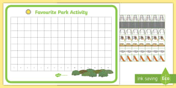 Park Pictogram Activity Pack - EYFS Parks and Gardens, playgrounds, park equipment, play, favourite, best, most, least, number, cou