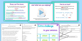 Relative Clauses KS2 - relative clauses KS2, relative clauses
