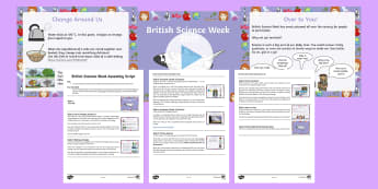 British Science Week Whole School Assembly Pack - science, assembly, whole school, British Science Week, change, investigate, experiment, Citizen Scie