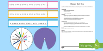 KS2 Number Rods Track Race Game - Cuisenaire, Number Rods, Counting, Number, Addition, Game, Small Numbers