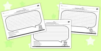 The Secret Garden Thought Bubble Worksheets Pack - worksheet