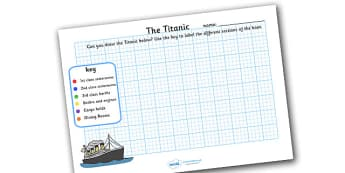 Design The Titanic Sheets - drawing, titanic, design the titanic, 1st class staterooms, 2nd class staterooms, 3rd class berths, dining rooms, cargo hold