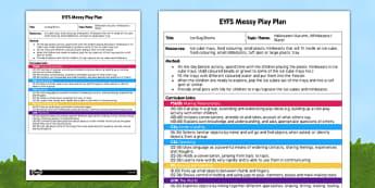 Ice Bug Blocks EYFS Messy Play Plan - messy play, recipe, ice