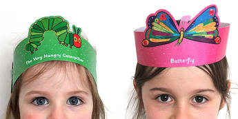 Role Play Headbands to Support Teaching on The Very Hungry Caterpillar - story, roleplay