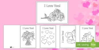 Valentine's Day I Love You Cards - ESL Valentine's Day Card