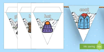 Winter Clothing Display Bunting