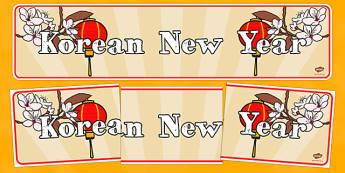 Korean New Year Display Banner - new year, display banner, display, banner, korean, korean new year