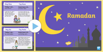Ramadan Daily Kindness Calendar PowerPoint English/German - Ramadan Daily Kindness Calendar - ramadan, daily, kindness, calendar, calander, calander, calandar,