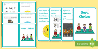 Good Choices Social Situation - social story, good choices, home, school, autism, bad behaviour, good behaviour