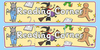 Reading Corner Display Banner - reading, display, banner, header