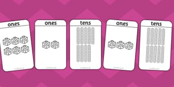Tens and Ones Cards - counting in tens, counting aid, maths