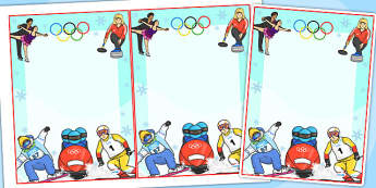Winter Olympics Editable Notes - olympic, sport, winter, notes