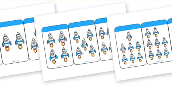 Count the Rockets Activity Cards (1-20) - education, home, free