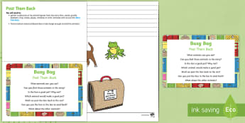 Post Them Back Busy Bag Prompt Card and Resource Pack - Dear Zoo, Rod Campbell, animals, letter to the zoo, in and out, box, posting, post