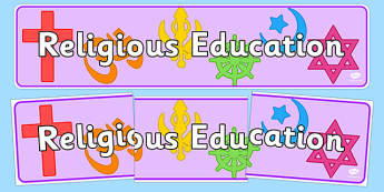 Religious Education Display Banner - religion, RE, religious education, display, banner, poster, sign, biblical studies, religious studies