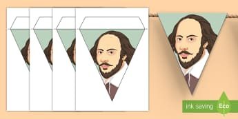 Shakespeare Display Bunting - Shakespeare, bunting, display, border, william