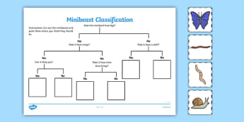 Minibeast Classification Game - minibeast, game, activity, sheet
