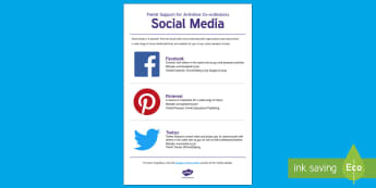 Twinkl Support for Activities Co-ordinators: Social Media Fact Sheet - Elderly Care, Care Homes, Ideas, Support, social media
