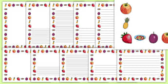 Fruit Salad Page Borders Pack - olivers fruit salad, fruit salad, page borders, pack