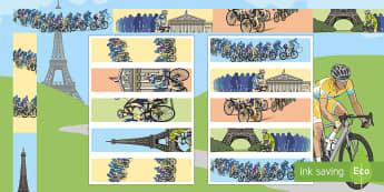 Tour de France Display Borders - cycling, bike, road race, display, france