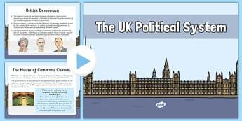 The UK Political System Presentation - british values, politics, uk