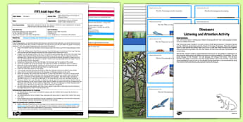 EYFS Separating Groups of Dinosaurs in Different Ways Adult Input Plan and Resource Pack