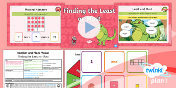 * NEW * PlanIt Maths Y1 Number and Place Value Lesson Pack Identifying Most and Least (3)