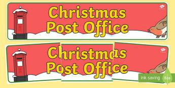 Christmas Post Office Display Banner - christmas post office, christmas, post office