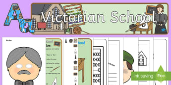 School Long Ago - Victorian Schools Resource Pack - victorian times, queen victoria,children, toys, Ks1, EYFS