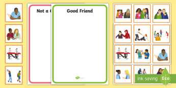 How to Be a Good Friend Sorting Cards - Requests SEN, friendship, community, PSHE, friends,
