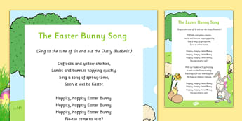 The Easter Bunny Song - Easter, song, rhyme, easter bunny, bunny, eyfs