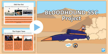 KS1 All about the BLOODHOUND SSC Project PowerPoint - assembly PPT, STEM, technology, engineering, y1 and y2