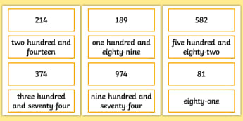 Reading Numbers Up to 1000 Card Activity - Number and Place Value, number recognition, maths mastery, year 3, fun maths, hundreds, tens, ones,