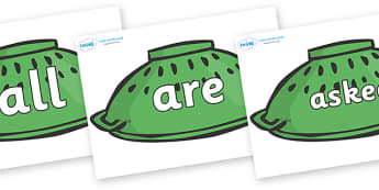 Tricky Words on Colanders - Tricky words, DfES Letters and Sounds, Letters and sounds, display, words