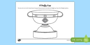 O' Duffy Cup Colouring Activity Sheet-Irish, worksheet