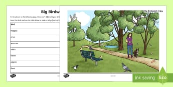KS1 I Spy Big Birdwatch Activity - KS1 RSPB Big School's Birdwatch (3 Jan-17 Feb 2017), RSPB, school, bird, bird watch, bird tally, da