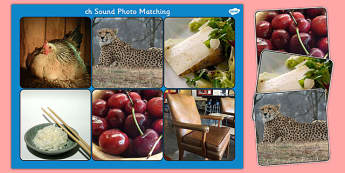 Initial 'ch' Sound Photo Matching Board and Cards - matching