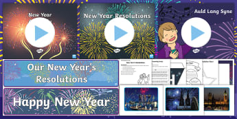 New Year CfE First Level Resource Pack - Hogmanay, 2018, New Year's Eve, New Years Day, 1st January,Scottish