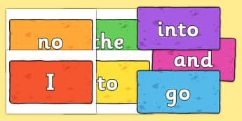 Phase 2 Tricky Words on Multicoloured Bricks - phase 2, tricky words