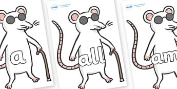 Foundation Stage 2 Keywords on Blind Mice - FS2, CLL, keywords, Communication language and literacy,  Display, Key words, high frequency words, foundation stage literacy, DfES Letters and Sounds, Letters and Sounds, spelling