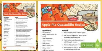 Fall Apple Pie Quesadilla Recipe