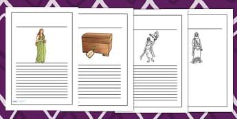 Pandoras Box Ancient Greek Myth Writing Frames - ancient greece