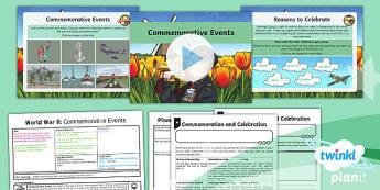 History: World War II: Commemorative Events LKS2 Lesson Pack 6