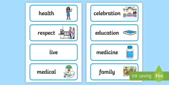 KS1 Universal Children's Day Word Cards - united nations, children's rights, independent writing, word recognition, organised events