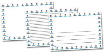 Swimming Cap Landscape Page Borders- Landscape Page Borders - Page border, border, writing template, writing aid, writing frame, a4 border, template, templates, landscape