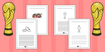 Womens Football World Cup 2015 Writing Frames - writing frames