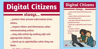 Digital Citizens Poster - digital, citizens, poster, internet