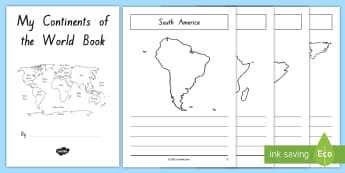 Year 3 and 4 Week 3 Chapter Chat Continent Information Fact Booklet to Support Teaching On The Lonely Lake Monster by Suzanne Selfors - reading, LKS2, suzanne Selfors, research, information, global, geography, atlases
